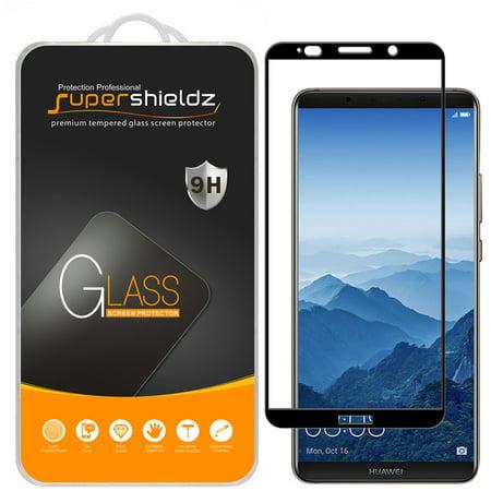 "[1-Pack] Supershieldz Huawei ""Mate 10 Pro"" [Full Screen Coverage] Tempered Glass Screen Protector, Anti-Scratch, Anti-Fingerprint, Bubble Free (Black Frame)"