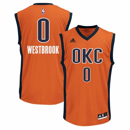 758467494 Russell Westbrook Oklahoma City Thunder NBA Adidas Men s Orange Official  Alternate Replica Jersey - Walmart.com