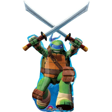 Teenage Mutant Ninja Turtles Leonardo Jumbo Foil Balloon - Ninja Turtle Party Invitations
