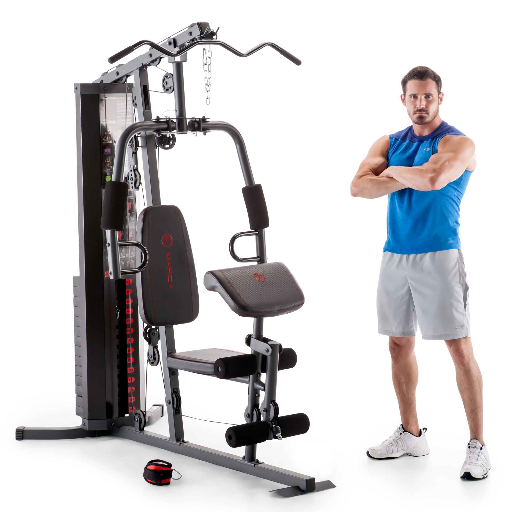 Marcy dual functioning upper and lower body pound stack home