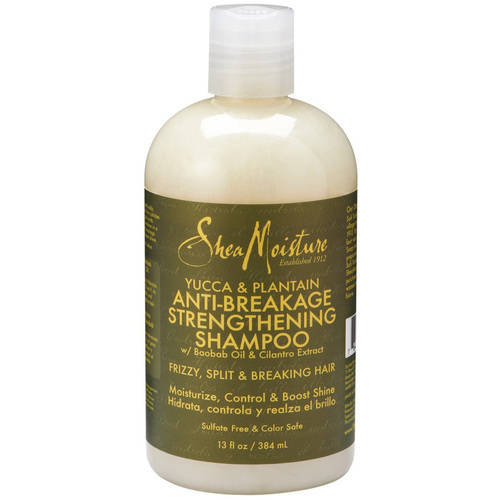 SheaMoisture Anti-Breakage Strengthening Shampoo, Yucca & Plantain, 13 Oz