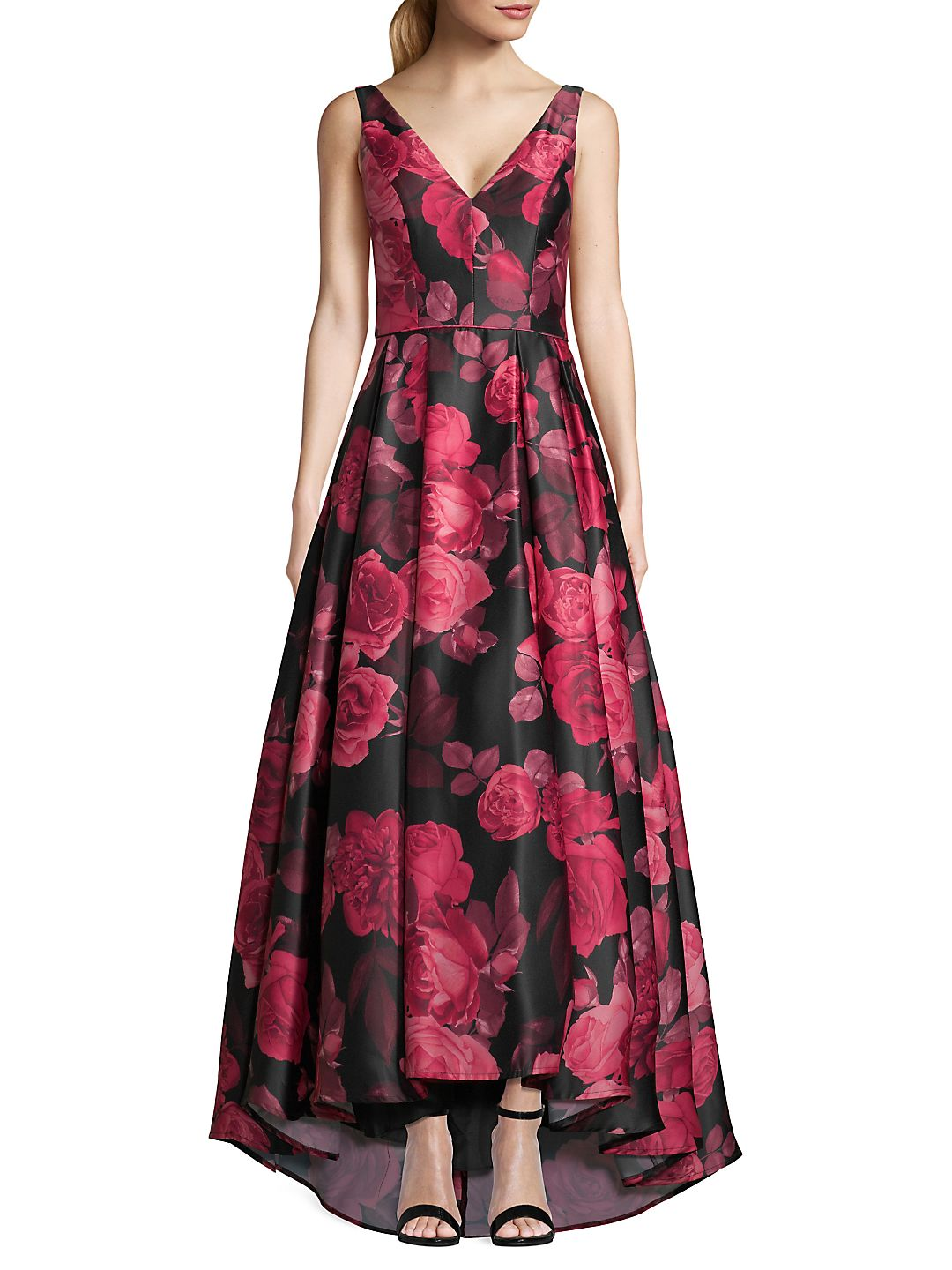 Floral High-Low Gown