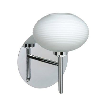 Besa Lighting 1SW-561207 Lasso 1-Light Halogen Bathroom Sconce with Opal Matte Glass Shade