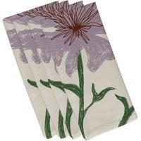 "Simply Daisy 19"" x 19"" Polyester Decorative Napkins, Set of 4"