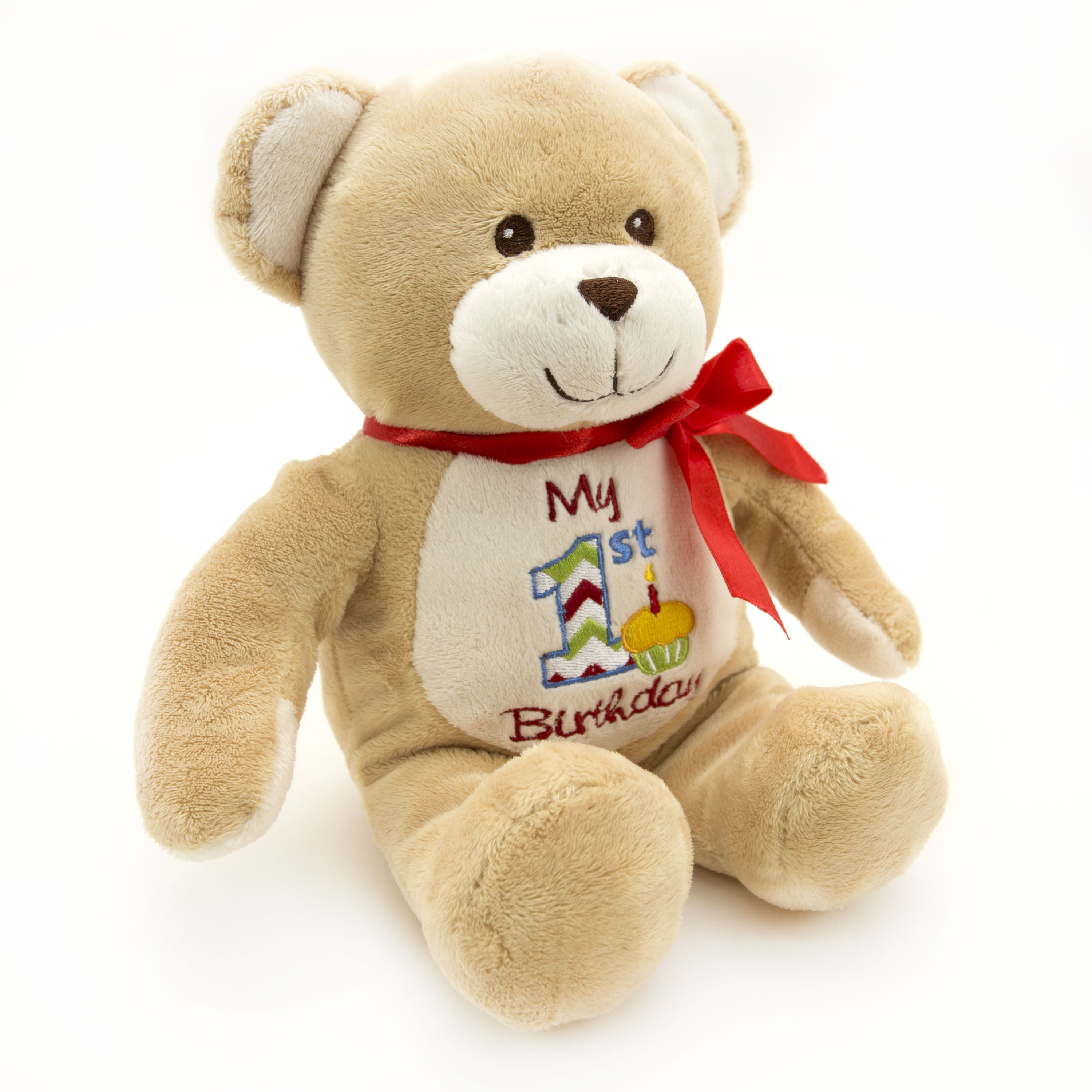 Way To Celebrate 12 - inch My First Birthday Plush Toy  -  Brown Bear