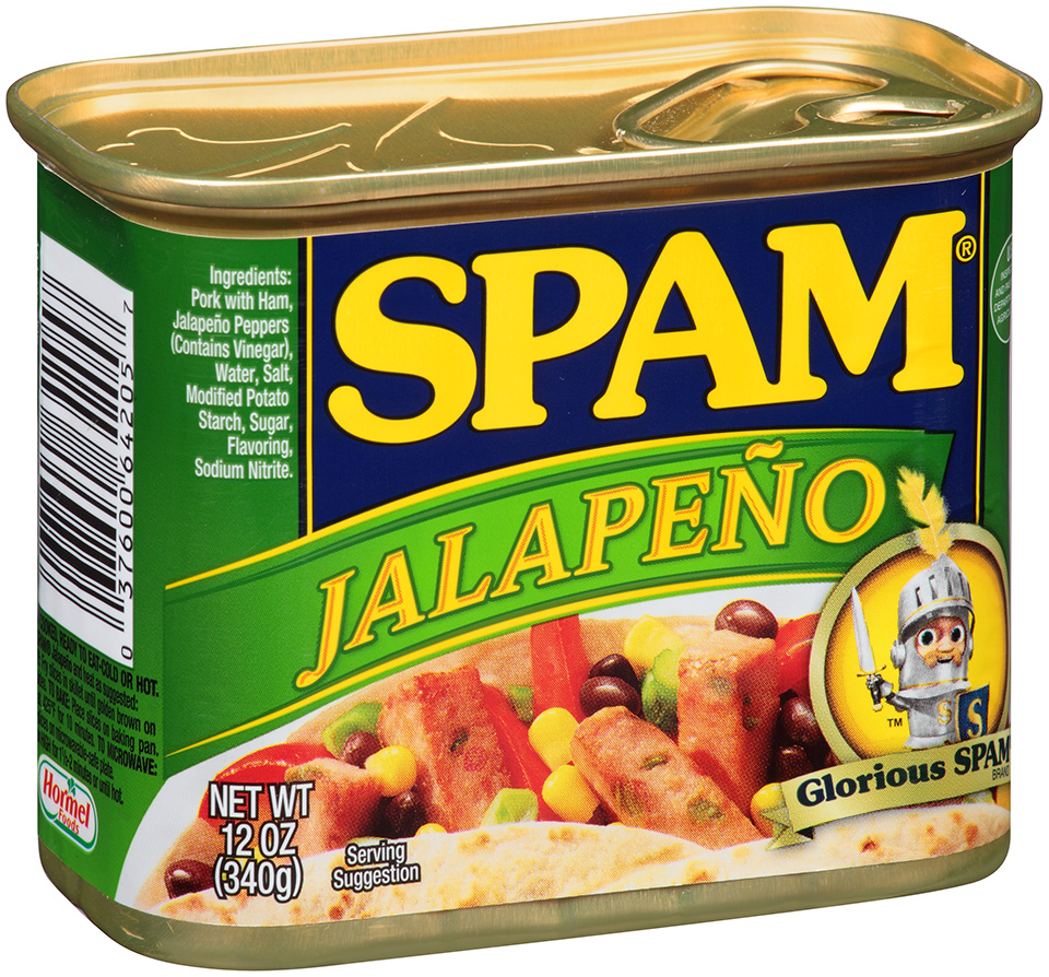 Spam Jalapeno Canned Meat 12 oz. Pull-Top Can by Hormel