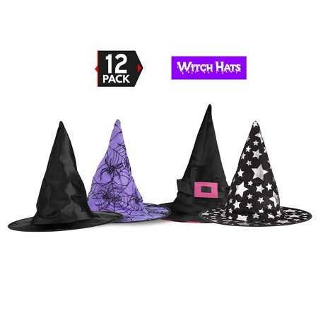 Big Mo's Toys Halloween Witch Hats Costumes For Kids – Varied Designs 12