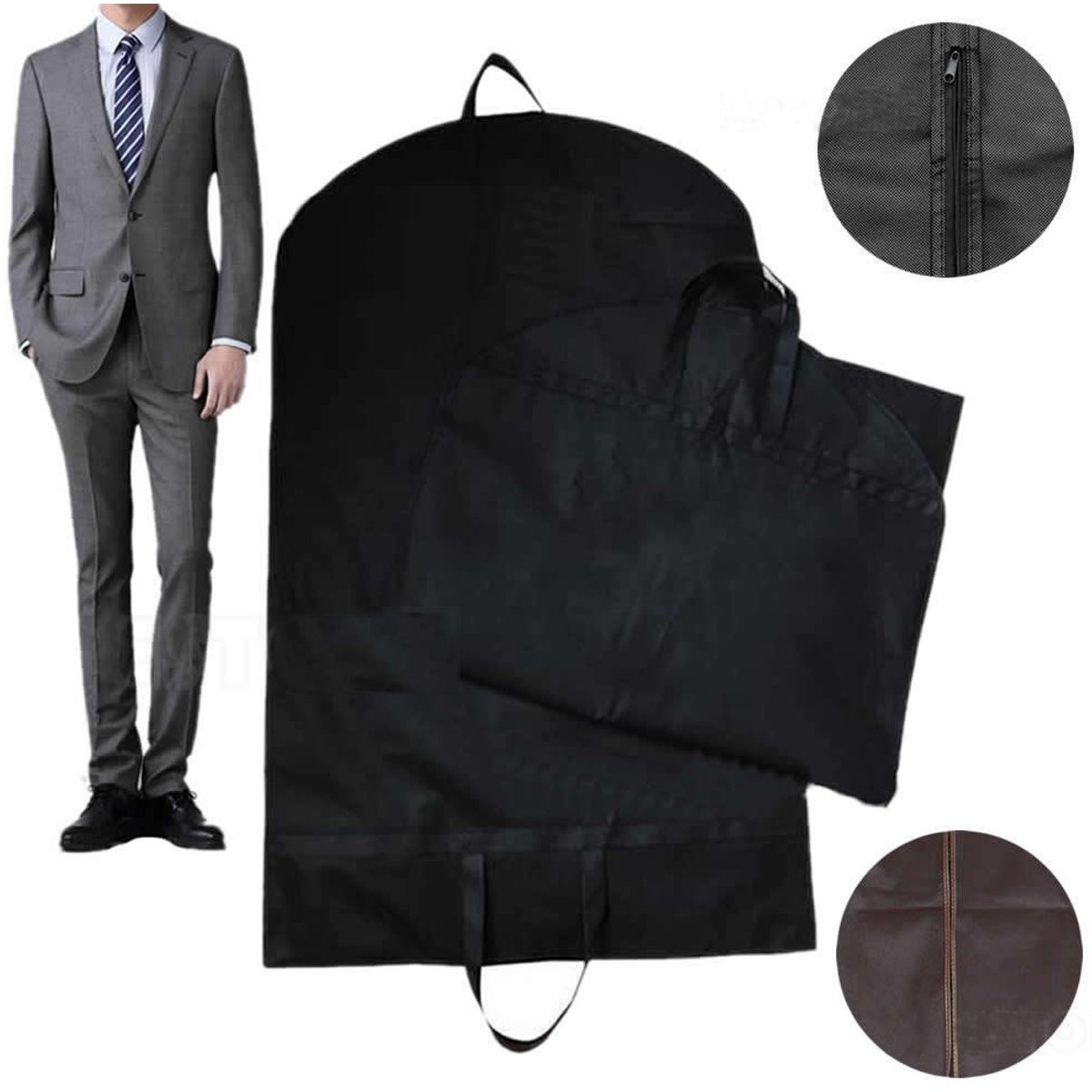 Black Suit Dress Coat Garment Storage Travel Carrier Bag Cover Hanger Protector SPECIAL TODAY !