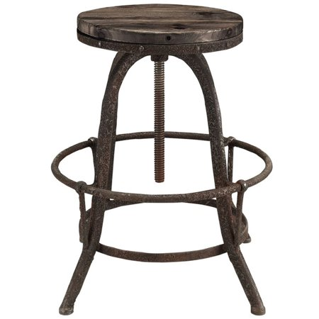 Hawthorne Collections Adjustable Bar Stool in Brown - image 2 of 4
