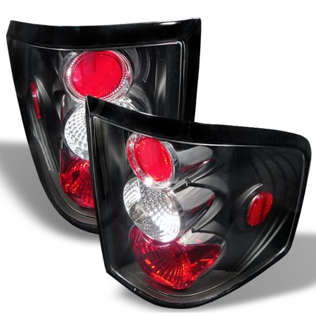 Fits 04-08 Ford F150 Pickup Truck Flareside Body Black Tail Brake Lights Lamps