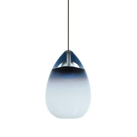 - Tech Lighting 700MO2ALIU Halogen Low-Voltage Alina Two-Circuit MonoRail Pendant with Steel Blue Hand-blown Venetian Teardrop Shaped Glass Shade