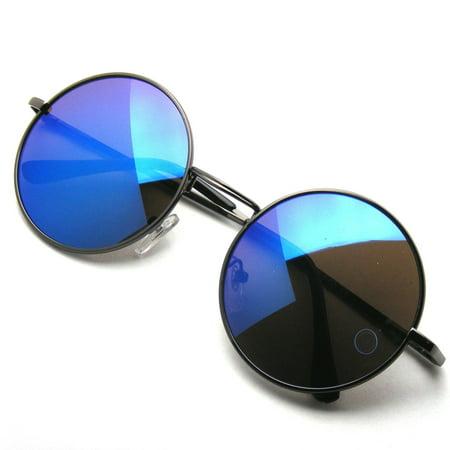 b006b4a44 Emblem Eyewear - John Lennon Inspired Sunglasses Round Hippie Shades Retro  Reflective Colored Lenses - image ...