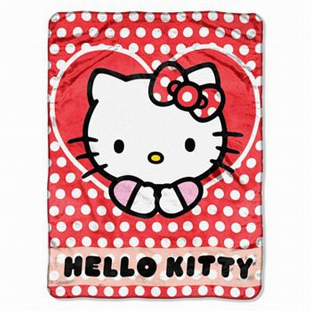 Sanrio Hello Kitty Micro Plush Throw Blanket Silk Touch Cat Soft & Cuddly