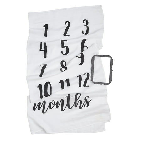 Mud Pie Newborn Blankets - Mud Pie Monthly Milestone Blanket Photo Prop Set