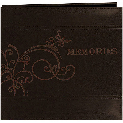 """Embroidered Scroll Leatherette Postbound Album, 12"""" x 12"""""""