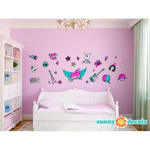 Sunny Decals Rock Star Fabric Wall Decal