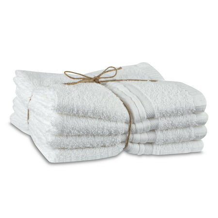 WestPoint Home Organic Cotton 4 Pack Wash White Towel Set