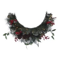 "Holiday Time Pre-Lit Natural Christmas Mailbox Swag Garland, 36"", Clear"
