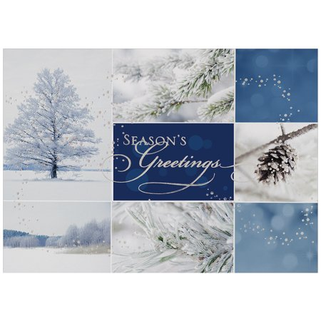 jam paper blank christmas card sets winter collage holiday cards