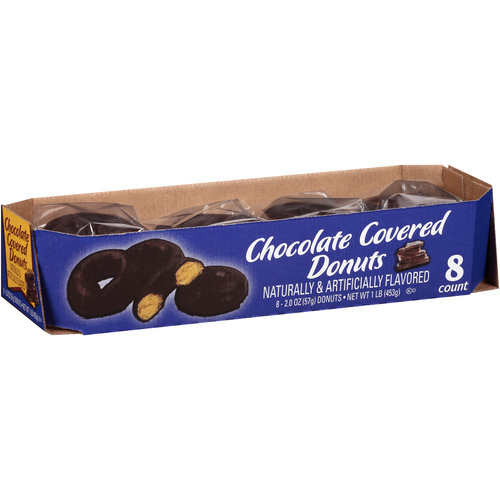 Chocolate Covered Donuts, 2 oz, 8 count