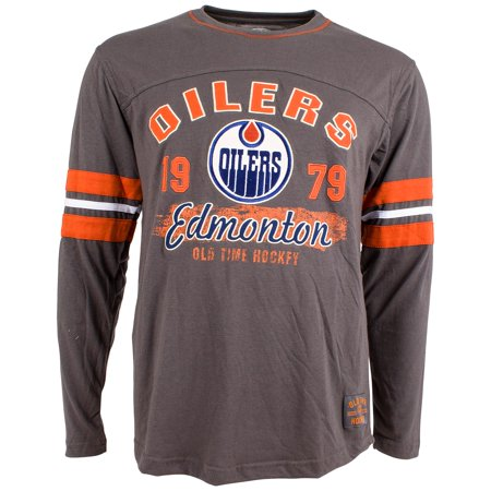 cheaper b399c e373f Edmonton Oilers Yutan Long Sleeve Jersey T-Shirt - Old Time ...
