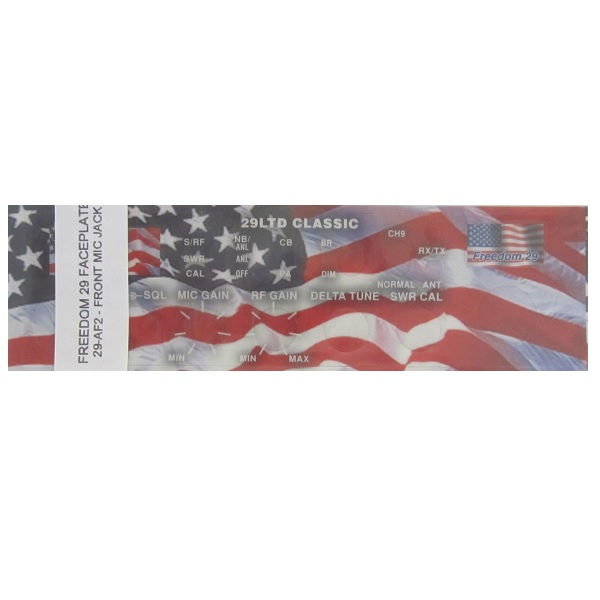 American Flag Freedom Face Plate Sticker For Cobra 29LTD CB Radio (Front Mic)