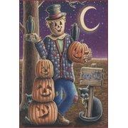 """Pumpkin Scarecrow Halloween House Flag Jack-O-Lantern 28"""" x 40"""""""