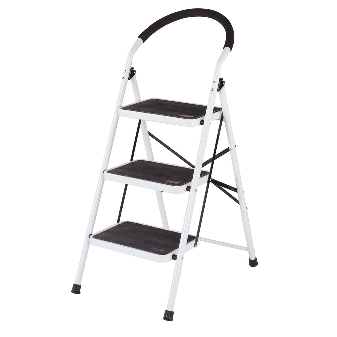 3 Step Ladder Stool Combo With Handgrip Anti Slip