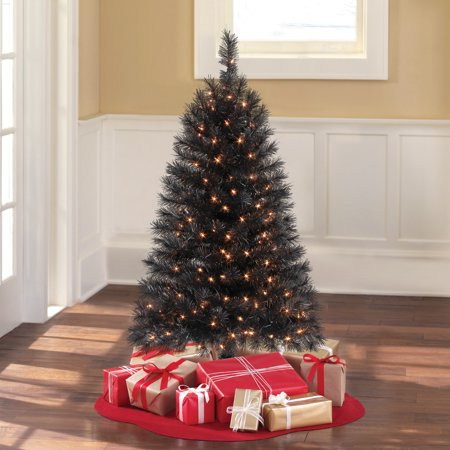 Holiday Time Pre Lit 4 Indiana Spruce Black Artificial