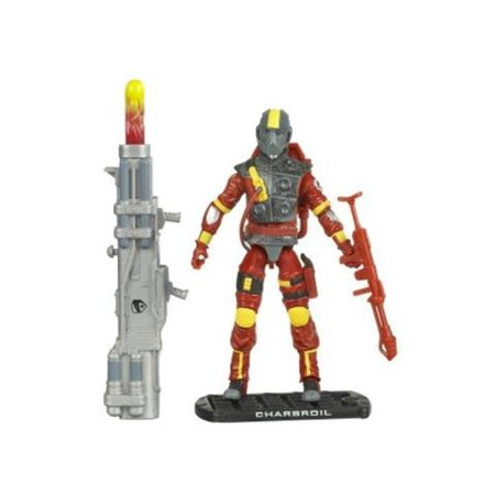 Charbroil Flamethrower Action Figure - GI Joe Movie: Rise of Cobra, Rise of Cobra Charbroil Flamethrower figure By G I