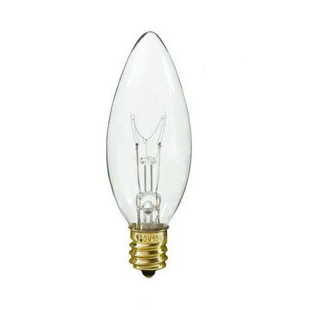- 40w 120v Candelabra E14 European base Torpedo Clear bulbs