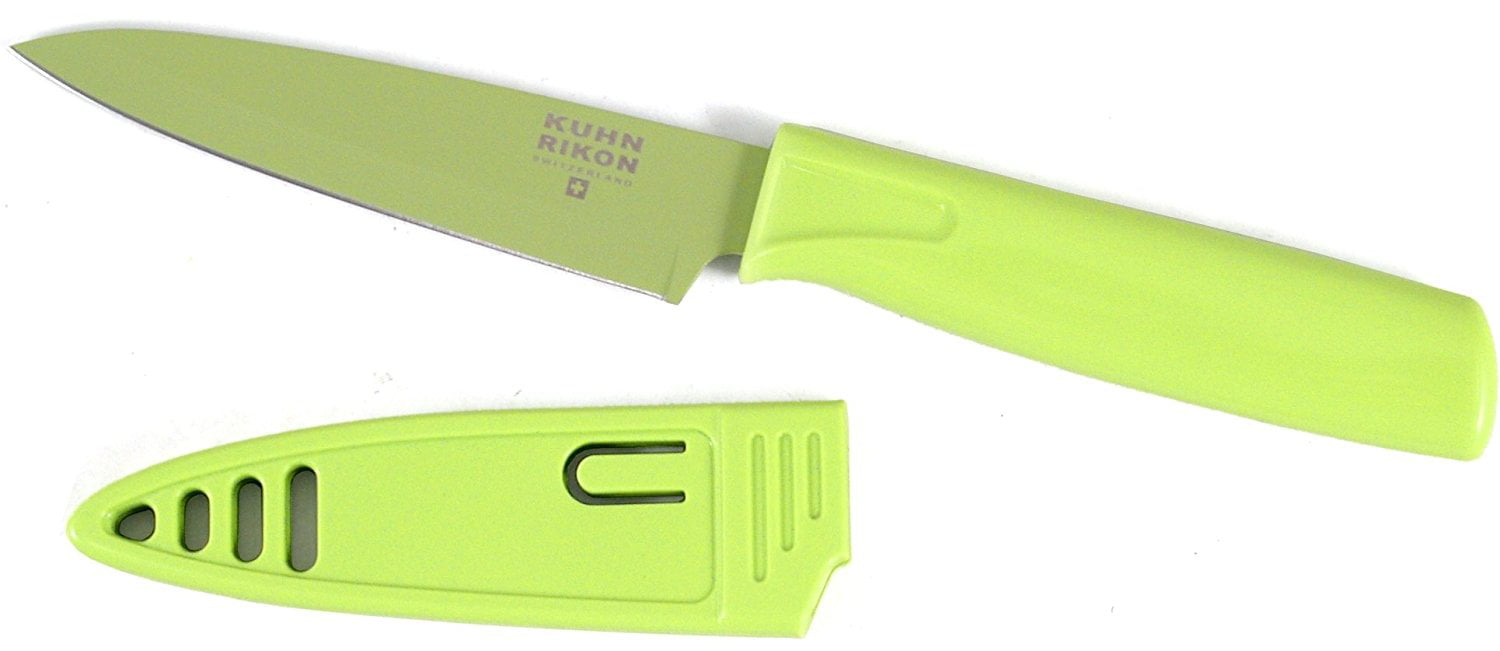 "2812 4"" Blade Green Paring Knife, Ship from USA,Brand Kuhn Rikon by"