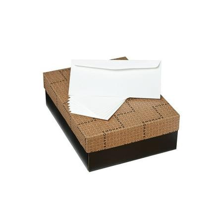 No. 10 Mohawk Via Linen Bright White Envelopes (4 1/8 x 9 1/2) 24lb Text 500/Pack (M82340)
