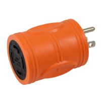 AC WORKS [AD515L1430] Household Plug NEMA 5-15P to Generator 4 Prong L14-30R (Two hots bridged) -