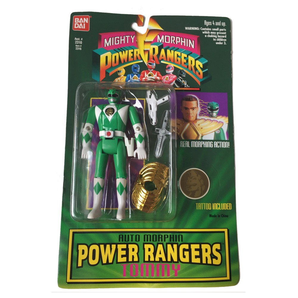 Green Ranger Auto Morphin Tommy Mighty Morphin Power Rangers Action Figure by Bandai