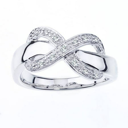 Diamond Accent Sterling Silver Infinity Ring
