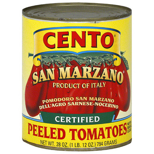 Cento San Marzano Peeled Tomatoes with Basil Leaf, 28 oz, (Pack of 12)