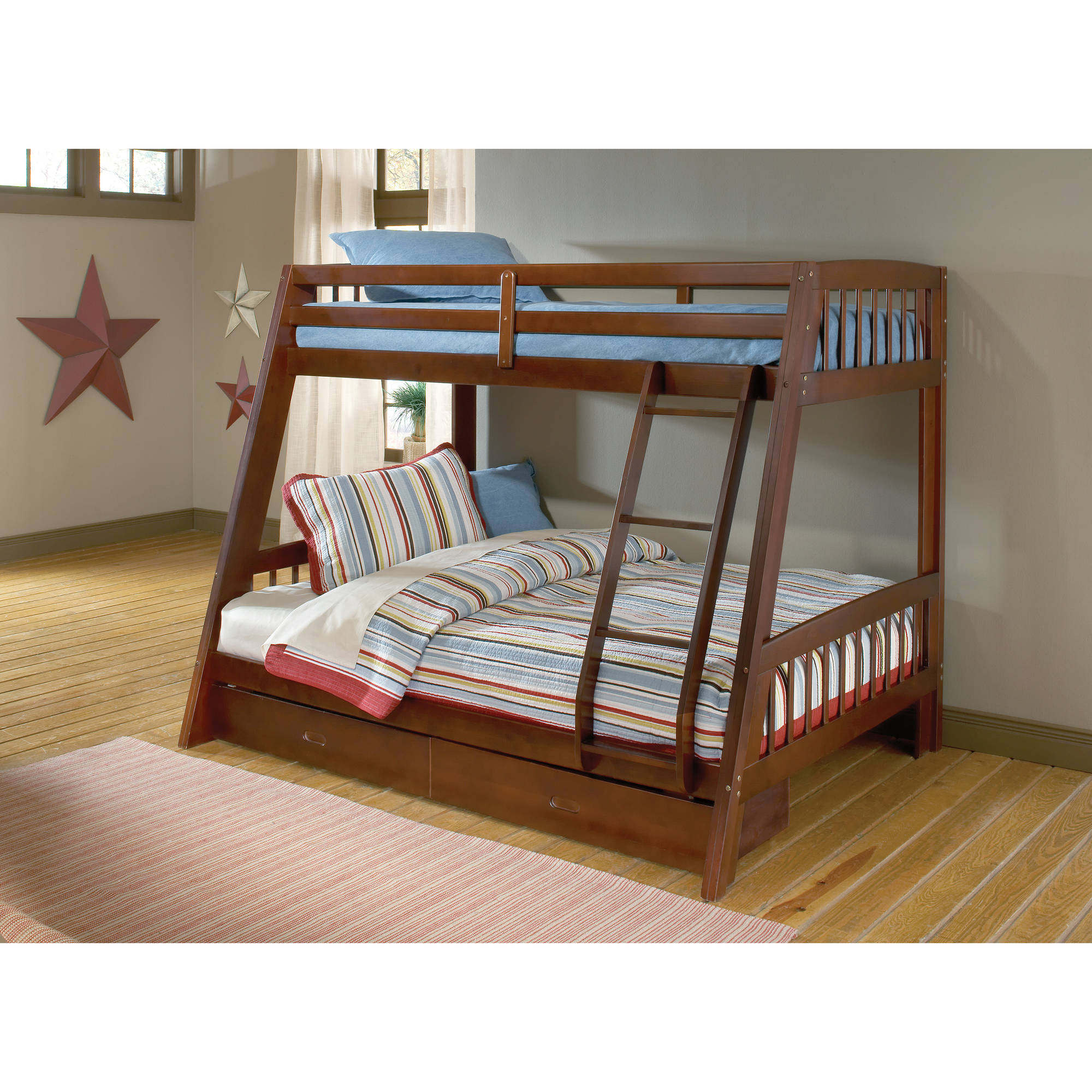Hillsdale Furniture Rockdale Twin over Full Bunk Bed with ...
