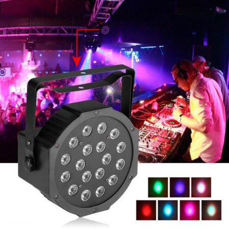 Ktaxon RGB 18-LED Stage Lighting PAR38 DMX-512 Projector Party DJ Disco - Disco Party