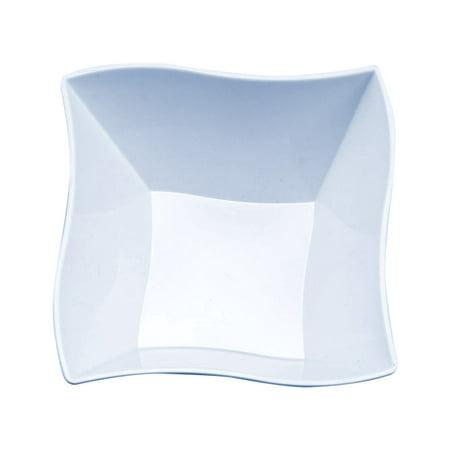Kaya Collection - Disposable Clear Plastic Wave 14oz Soup/Condiment Bowls (120 Bowls)