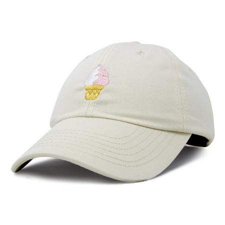 a8907de31b4e35 DALIX - DALIX Soft Serve Ice Cream Hat Cotton Baseball Cap in Beige ...