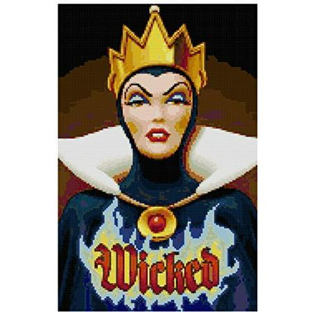Disney Wicked Witch Counted Cross Stitch Pattern (Stitch Witch)