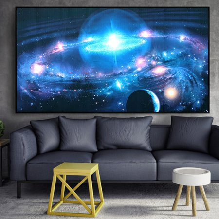 43 X 24 Mural Wall Silk Poster Art Andromeda Galaxy Stars Universe Space Wall Poster Art Printing Paint Wall Hanging For Home Decor Christmas Gift