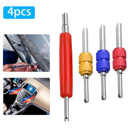 Standard Valve Core Remover - Dual Schrader HVAC Service Valve Core Remover AC System Car Truck Installer Tool