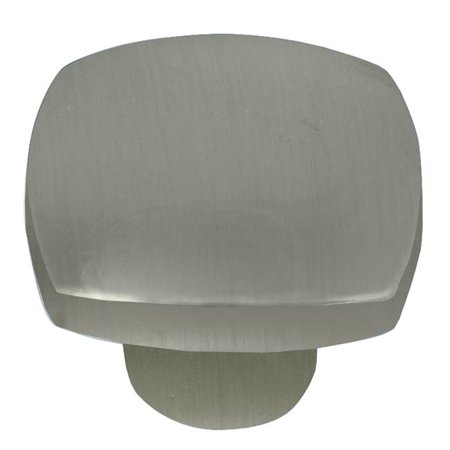 Laurey 74428 1.5 in. Aventura Square Knob - Satin Nickel Laurey Nickel Knob