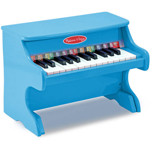 Melissa Doug Learn To Play Piano With 25 Keys And Color Coded Songbook Blue Walmart Com