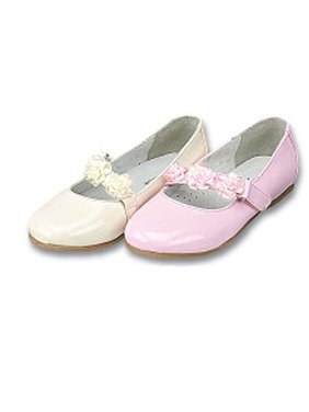 Toddler Little Girls Patent Floral Flower Girl Dress Shoes 5-2