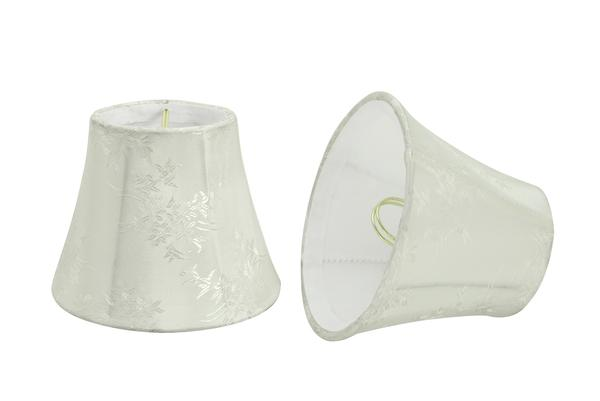 """Aspen Creative 30272-9 Small Bell Shape Chandelier Clip-On Lampshade Set (9 Pack), Transitional Design in Ivory, 5""""... by Aspen Creative Corporation"""