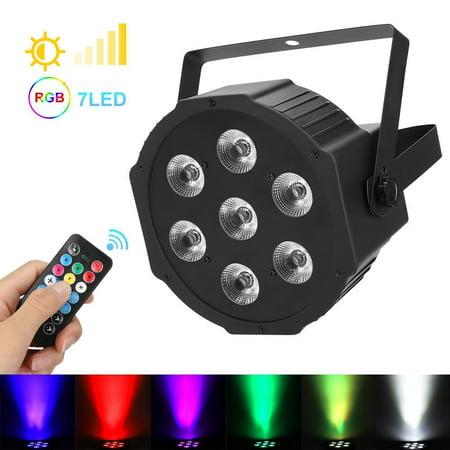 LHCER Black RGBW LED Stage Light with Remote Controller Built-in Lithium Battery 110V US Plug, LED Stage Lamp,Stage Light 4p 60a Plug