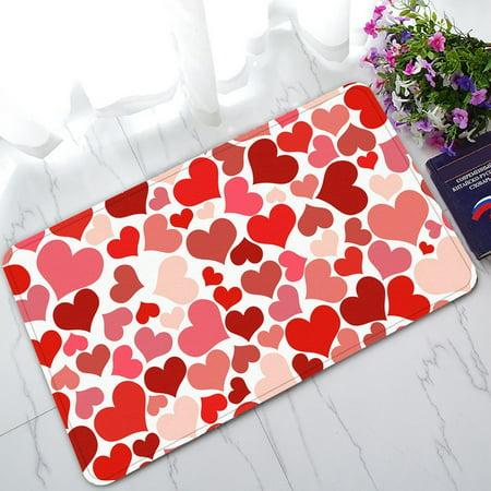 GCKG Valentine's Day Non-Slip Doormat Indoor/Outdoor/Bathroom Doormat 30 x 18 Inches